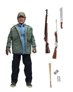"""NECA Jaws (1975) Sam Quint 8"""" Clothed Action Figure Collectible 100% OFFICIAL"""