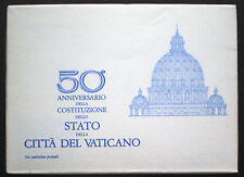 1979 Vatican City 6 postcards with original folder for the 50th Anniversary