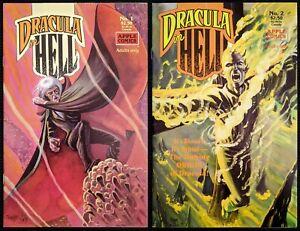 Dracula In Hell #1 & #2 Complete Rare Apple Comics Tim Vigil/Adam Hughes Covers