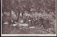 1904  --  PIQUE NIQUE SUR L HERBE A L ABBAYE DE FONTSEGUGNE   £704