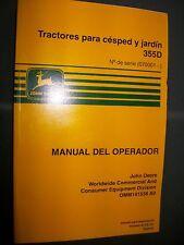 John Deere 355D Tractore jardin: MANUAL OPERADOR 141538