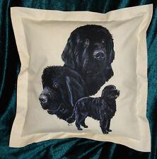 Hand Crafted Newfoundland dog cushion cover