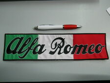 toppa patch ALFA ROMEO embroidery ITALIA ricamato termoadesivo 29x10 cm