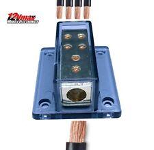 (1) 4 Gauge to (4) 8 Gauge Distribution Block Power Ground Car Audio Amp D127