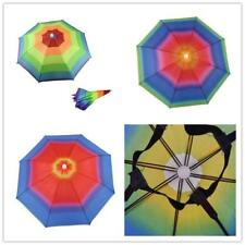 Foldable Sun Rain Umbrella Hat Headwear Cap Head For Fishing Hiking Camping T