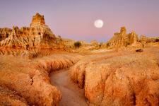 Rock Mountain Desert Moon High Quality WALL PRINT PREMIUM LARGE POSTER  91X61CM