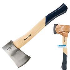 More details for silverline 1.5lb wood axe - hand hatchet kindling firewood log chopper handle