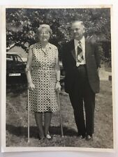 Vintage Real Photograph  - #L - Large Picture Of Couple (1970 J Reg Car Behind)