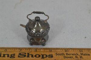 period perfume bottle silver plate teapot Wilcox 2 in original 19th c 1800 rare