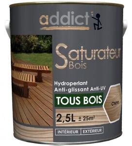 SATURATEUR BOIS 2.5L TEINTE CHENE protection hydroperlant anti glissant anti UV
