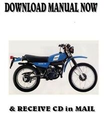 1980 Yamaha DT125 / DT175 factory repair service shop manual on CD