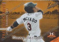 2013 Frederick Keys 25th Anniversary Complete Team Set Orioles Minor League