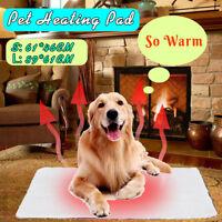 Large Self Heating Pet Dog Mat Bed Pad Soft Warm Cat Rug Thermal No Plug 🔥 !