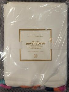 Pottery Barn Teen Tassel Duvet Cover, Twin/Twin XL, Multicolor, Free Shipping