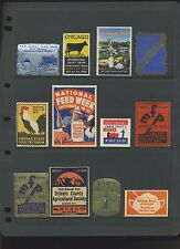 23 FARM, POULTRY, AGRICULTURE, MACHINERY, ETC. POSTER STAMPS LOT #L162