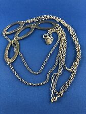 Silpada Oxidized Sterling Silver N1720 Hammered Ovals Multi Chain Long Necklace