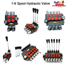 1-6 Spool Hydraulic Monoblock Directional Control Valve 21GPM for Tractor Loader