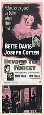 BEYOND THE FOREST Movie POSTER 14x36 Insert Bette Davis Joseph Cotten David