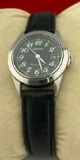 Vintage Movado Kingmatic Lady watch, STUNNING Black Dial and dated, RUNS