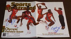 SHERYL SWOOPES TERESA EDWARDS +1 SIGNED SPORTS ILLUSTRATED JULY 22, 1996 USA