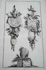 EAU FORTE JEAN CHARLES DELAFOSSE-VOYSARD LA FRANCE ET LA RELIGION-TROPHEES 1772