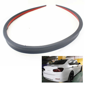 120cm Car Rear Roof Trunk Spoiler Rear Wing Lip Trim Carbon Fiber Look Universal