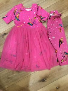 Hanna Andersson 130 Us 8 Girls Dress Crop Leggings Outerspace Pink