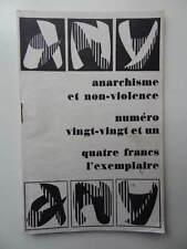 revue Anarchisme et Non-Violence n° 20-21 1970 Marxisme Libertaire Vinoba Bhave