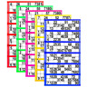 750 X Bingo Flyers,Pad Of 750 Tickets 6 To View, All Colours Jumbo Brand 125 Pag