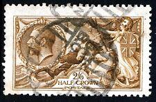 GB KG V 1915 2/6d. Seahorses Chestnut Brown DE LA RUE SG 408 (Spec.N64[12]) VFU