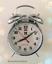 Wind Up Loud Twin Bell Alarm Clock Made Of Metal With Old World Look Mechanical