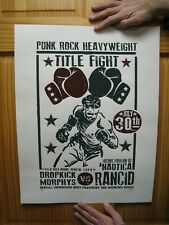 Dropkick Murphys and Rancid Poster Signed Numbered Sean Carroll The