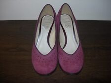 CLARKS HANDCRAFTED WOMEN'S COURT SHOES PURPLE AUBERGINE SUEDE EU 37.5 / UK 4.5