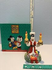 1994 Disney Store Goofy Figurine  Christmas Candle Holder Its A Small World