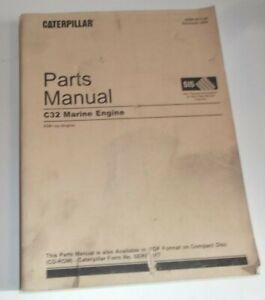 CAT CATERPILLAR C32 MARINE ENGINE PARTS MANUAL BOOK S/N RXB00001-UP