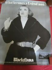 Vintage BETTY DAVIS Blackglama POSTER 1968