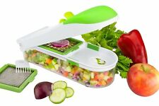 Push Food Chopper Vegetable Salad Fruit Peeler Cutter Slicer Dicer Greater