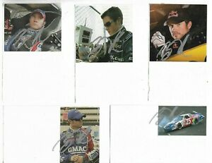 (6) Brian Vickers Signed Index Card Lot NASCAR