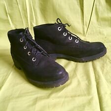 Timberland Nellie Chukka Slim Black Suede Boots Size 5