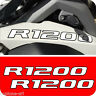 2 Adesivi Serbatoio Moto BMW R 1200 gs adventure Bianco bordo Nero 280 x 30 mm