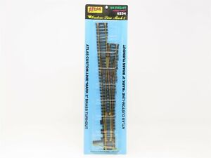 """HO Scale Atlas #234 Custom-Line """"Mark 2"""" #6 Right Switch Brass Turnout Track"""