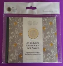 2017 Royal Mint Jane Austen £2 Two Pound Brilliant Uncirculated Coin in Pack