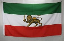Big 1.5 Metre Iranian Historic Pre 1979 Persion Lion Large New Flag 3x5ft Iran