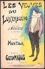 Gaston Maquis. Les veuves du Luxembourg. Montoja. Vers 1900.