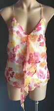 NWT Multi Colour VALLEYGIRL Floral Print Silk Singlet / Cami Top Size Size14
