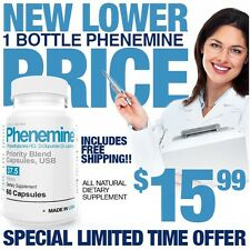 1 Phenemine Like Adipex P 37.5  Rapid Fast Strong Weight Loss Best Diet Pills