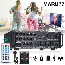 Professional Karaoke Amplifier Mixer, Remote, Bluetooths, USB, DJ, Microphone US