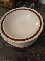 Set Of 8 Vintage Stoneware Bowls Autumn Bouquet Four Seasons Collection Brown...