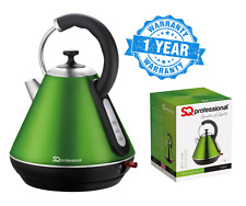 1.8L LED Cordless Electric Swivel Kettle Tea Coffee Water Fast Boil Green 2200W