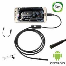 TELECAMERA ENDOSCOPICA SONDA PER ISPEZIONE USB 5M 6 LED IP67 ANDROID PC NOTEBOOK